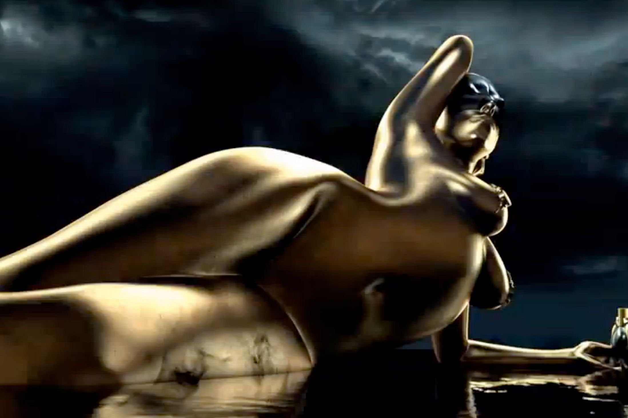 Lady Gagas Nude Pose For Fame Perfume  She Is Life, She Loves Life-3387